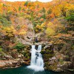 『三段峡の紅葉』餅ノ木駐車場から最短ルートで行く『三段滝』!!