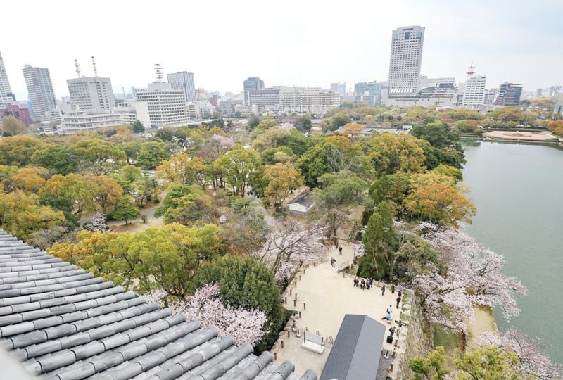 広島城、天守閣からの眺望