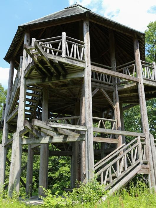 温井ダム、自然生態公園の展望台の外観