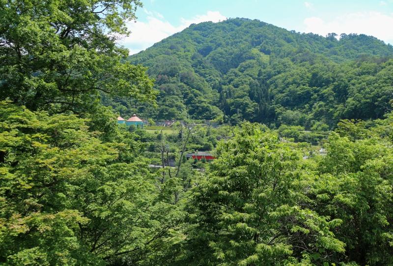 温井ダム、自然生態公園の展望台からの眺望