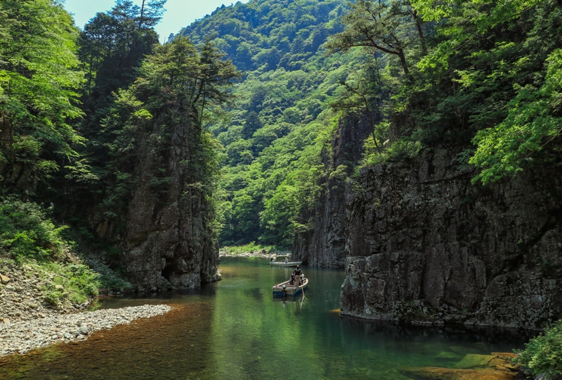 初夏の三段峡、黒淵