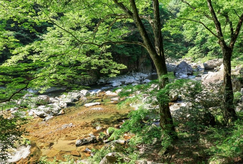 初夏の三段峡、美しい渓谷