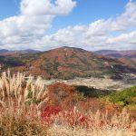 『吉和展望台』で紅葉に染まる秋の山を眺める(広島県廿日市市吉和)