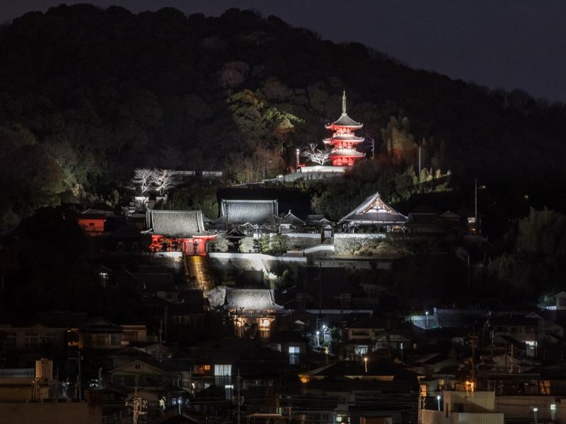 尾道市役所、新庁舎『展望デッキから西国寺を望む』