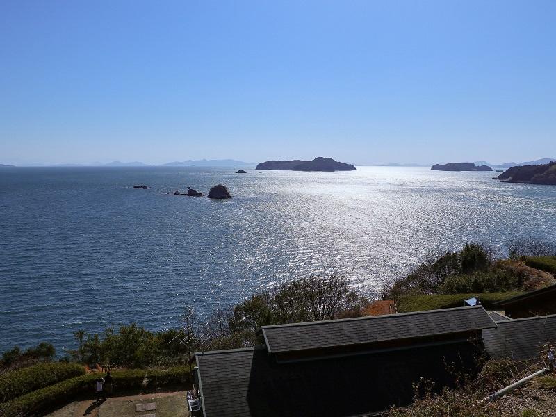 「であいの館 蒲刈」高台から瀬戸内海の眺望