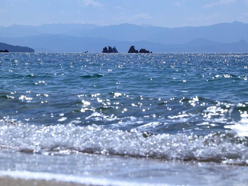 蒲刈「県民の浜」のビーチ