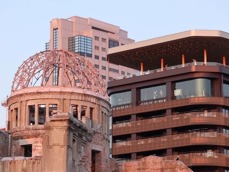 原爆ドーム、おりづるタワー、リーガロイヤルホテル