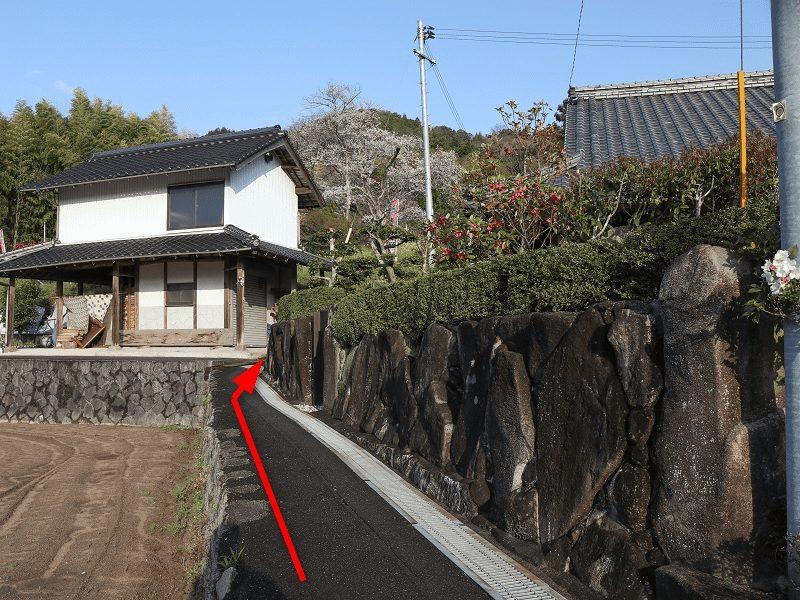 『湯戸モチヅキ桜』へのアクセス