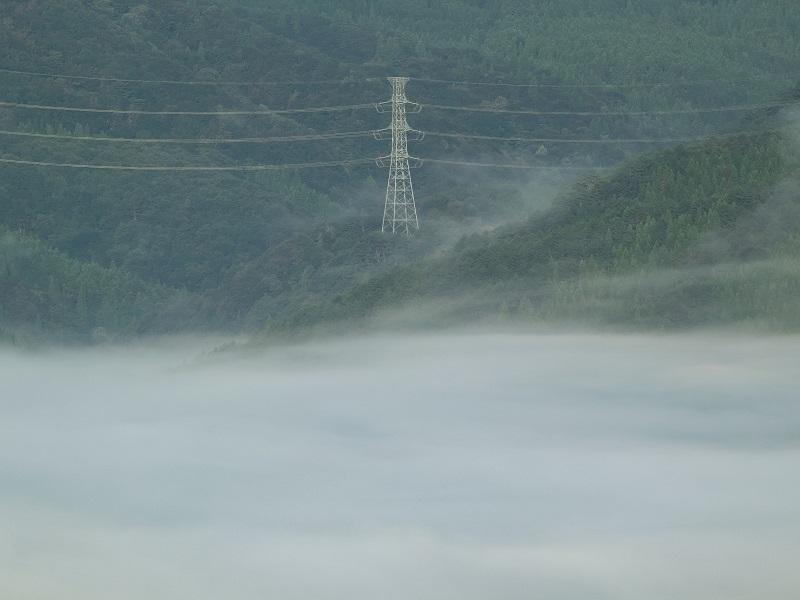 「吉和展望台」から望む雲海